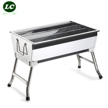 free shipping BBQ Grills PORTABL CHARCOAL BBQ GRILLStainless steel stove outdoor portable charcoal barbecue grill stove fold(China)