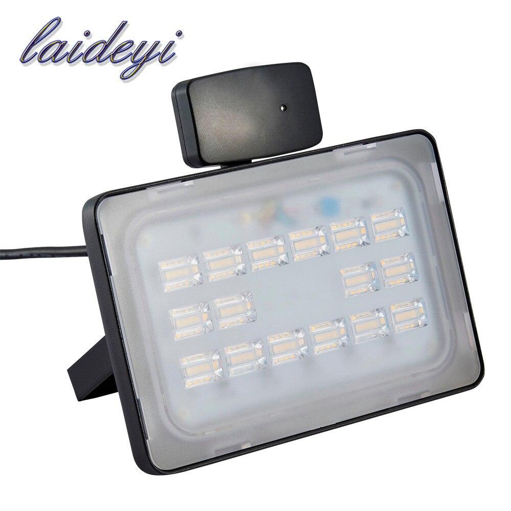 LAIDEYI 50W 220V-240V PIR Infrared Motion Sensor LED Flood Light 6000LM Motion Sensor LED Floodlight LED Lamp Outdoor Lighting<br>