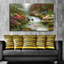 GenDi Wall Art Canvas Painting Pictures Thomas Landscape For Living Room Spring Flower Forest River Cuadros Decoracion TMS-20