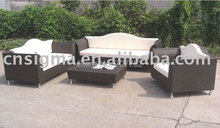 New arrival 2017 Hot sale rattan outdoor furniture with 6 seaters(China)