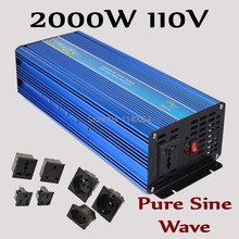 HOT SALE!! 2000W Off Grid Inverter Pure Sine Wave Inverter DC110V Input Solar Wind Power Inverter 2000W(China)