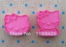Wholesale Cake Decorating Tools,10sets(2pcs/set) Hello kitty Candy Biscuit Jelly fondant Cookie cutters Free Shipping