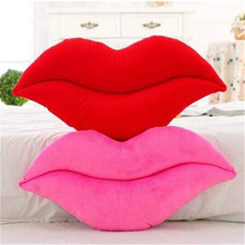 Creative cute gift plush pillow soft stuffed poop cushions red pink lips decorative for chair home hotel bar living room toy kid(China)