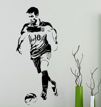 Neymar Wall Decal Barcelona Football Player Vinyl Sticker Home Interior Living Room Sport Art Decor Dorm Club Bar Mural