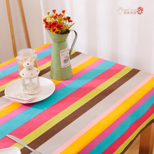 1 Piece Modern Thickened Cotton Stripe Table Cloth/ European Sitting Room Decorate Tablecloth/ Contracted Stripe Tea Table Cloth