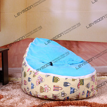 FREE SHIPPING baby bean bag cover with 2pcs sky blue up cover baby beanbags baby chair baby seat cover bean bag covers only(China)