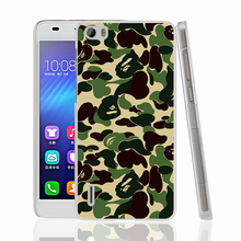 22552 Army Military Camouflage cell phone Cover Case for huawei honor 3C 4A 4X 4C 5X 6 7 8 V8 Y6