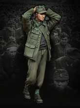 Free Shipping 1/35 Scale Unpainted Resin Figure World War II German POW part collection figure