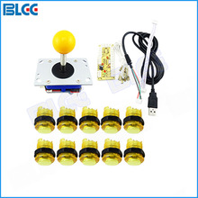 Arcade Part Kit with  4 /8 Way Zippy Arcade Joystick Zero Delay USB Encoder  LED Illuminated Push Button for Arcade Game DIY