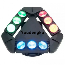 Triangle 9x10w 4in1 Super 3 heads rgbw dmx used stage light led spider beam moving head light(China)