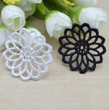 IB4336 Rayon White Soluble flower lace pieces 3.7cm 40pcs DIY handmade Clothing accessories wholesale()