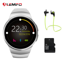 LEMFO KW18 Smart Watch Bluetooth Heart Rate Monitor Intelligent smartWatch Support SIM TF Card for apple samsung Phone