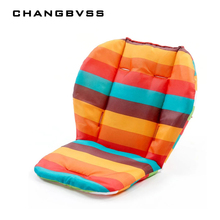 Baby Pram Accessories Cushion,Rainbow Baby Stroller Buggies Pads Seat Chair Cushion Thickening Warm Cart Pads Liner(China)