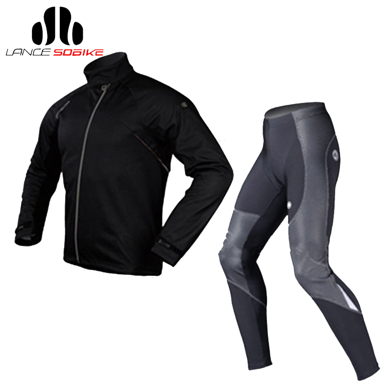 SOBIKE Bike Bicycle Cycling Suits Fleece Winter Mens Sportswear Long Sleeve Jersey Winter Jacket-Cook Tights-Shark MTB Clothing<br><br>Aliexpress