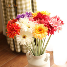 Free shipping Hot sale Simulation flower place decoration rural rural style Single branches gerbera/francois flowers