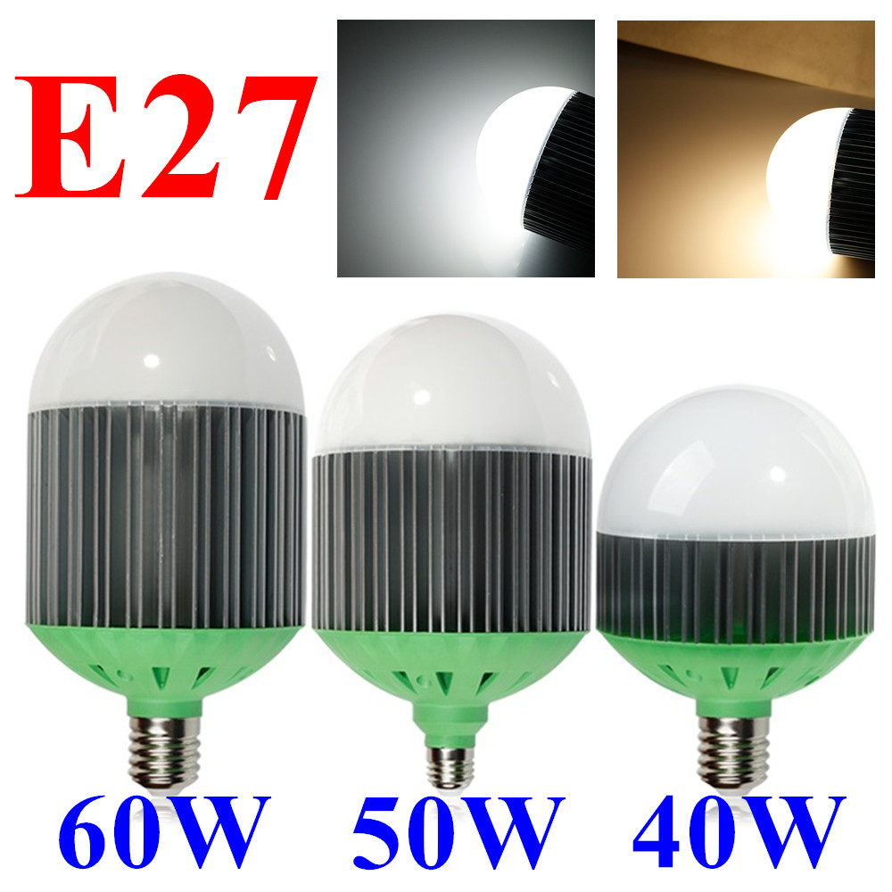 LED Bulb E27 40W 50W 60W 85~265V High Power LED Lamp Cold White/Warm White High Bay SpotLight Lamp For Warehouse/Factory/Garage<br>