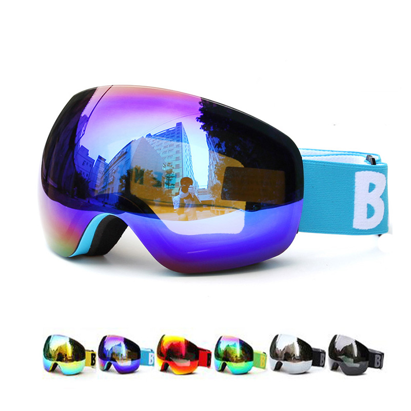 Professional Big Frame Ski Goggles Double Lens UV400 Anti-fog Adult Snowboard Skiing Glasses Women Men Snow Eyewear<br>