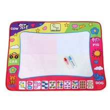 Kid Writing Mat Water Painting Draw Writing Mat Kid Aquadoodle Developmental Doodle Board Toy With Magic Pen(China)