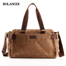 BLD Brand High Capacity Men Travel Bags Hand Luggage Travel Duffle Bags Canvas Weekend Bags Multifunctional Shoulder Tote Bags(China)