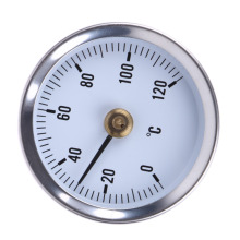 Thermometer Bimetal Stainless Steel Surface Pipe Thermometer Clip-on Spring Temperature Gauge 0-120 Degree 63mm Dial Dia