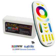 1Pcs 2.4G Mi Light RGBWW Led Remote Controller + 1Pcs 2.4G RGBWW LED Controller for Led Strip Bulb Downlight