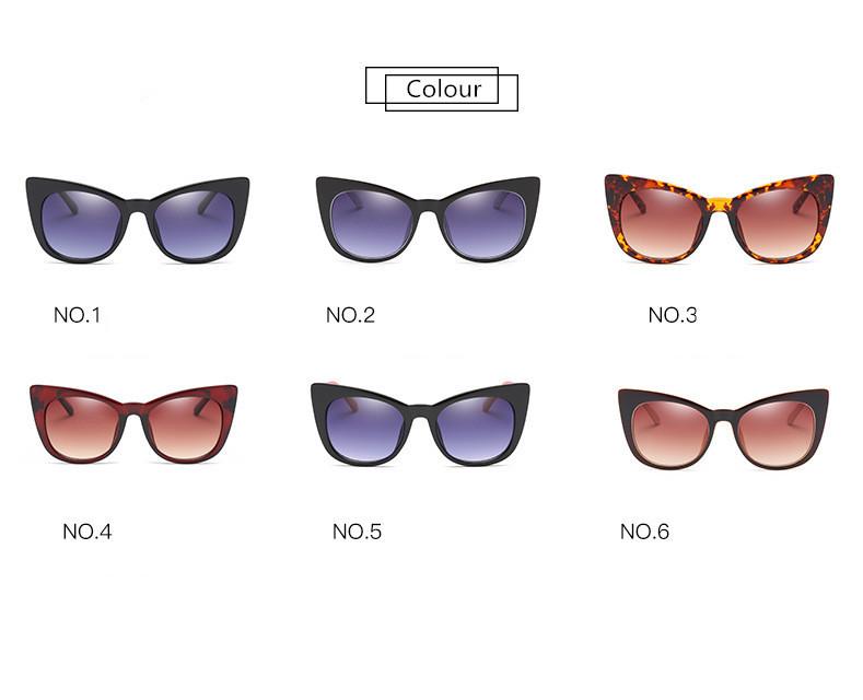 Luxury Vintage Cat Eye Sunglasses Women Brand Designer Retro Female Sunglass Points Sun Glasses For Women Ladies Sunglass Mirror (5)
