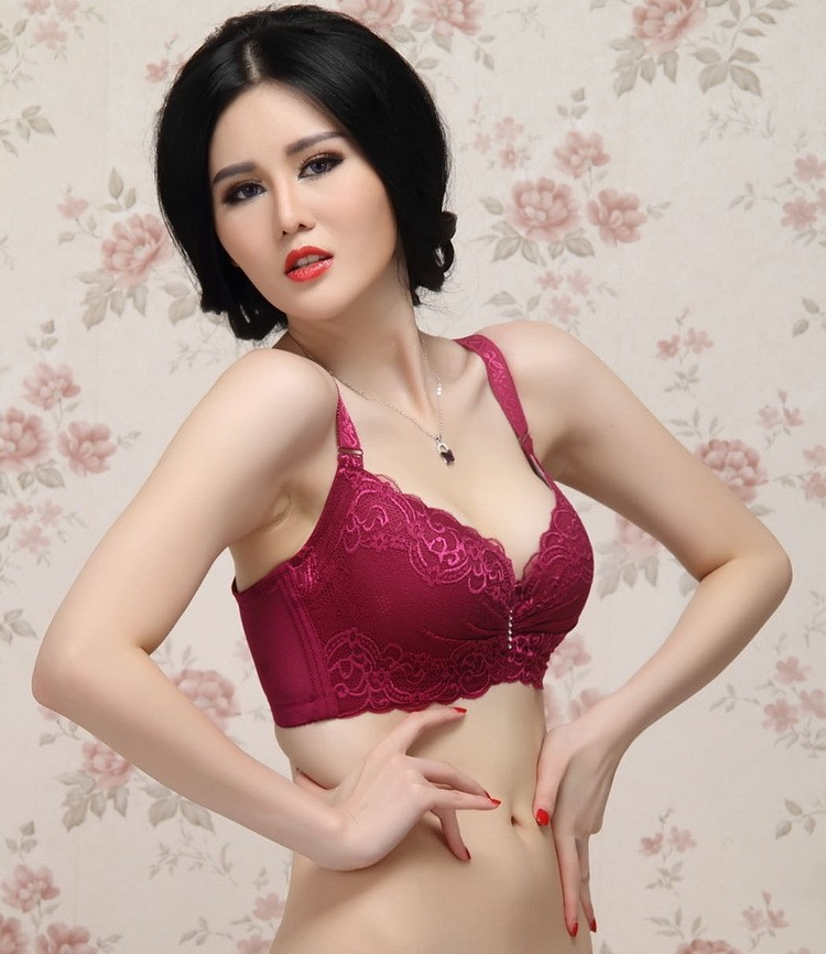 17 hot! 3/4 cup lace push up bra summer style large size sexy women underwear thin section cup C cup D cup E bra for women 12