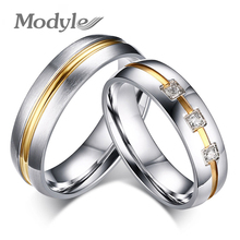 Modyle 2017 New Fashion Hot Sale Men and Women Ring Stainless Steel Men Finger Ring Fashion Jewelry