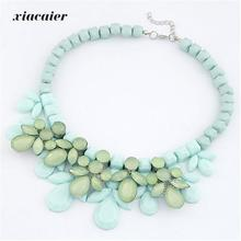 xiacaier New Fashion Luxury Shiny Jewel Necklace Exaggerated  Short Necklaces & Pendants for women   fashion jewelry wholesale