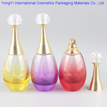 BP-54 1Pcs 60ml Brand Name Perfume Bottle Atomizer In Refillable Glass Comestic Container With Gold Lid Wholesales