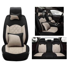Cloth Flax Universal Car Seat Cover set for Benz A B C D E S series Vito Viano Sprinter Maybach CLA auto accessories car-styling