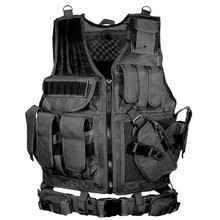 Police Military Tactical Vest Wargame Body Armor Sports Wear Molle Assault Airsoft Paintball Carrier Strike Vest With Holster(China)