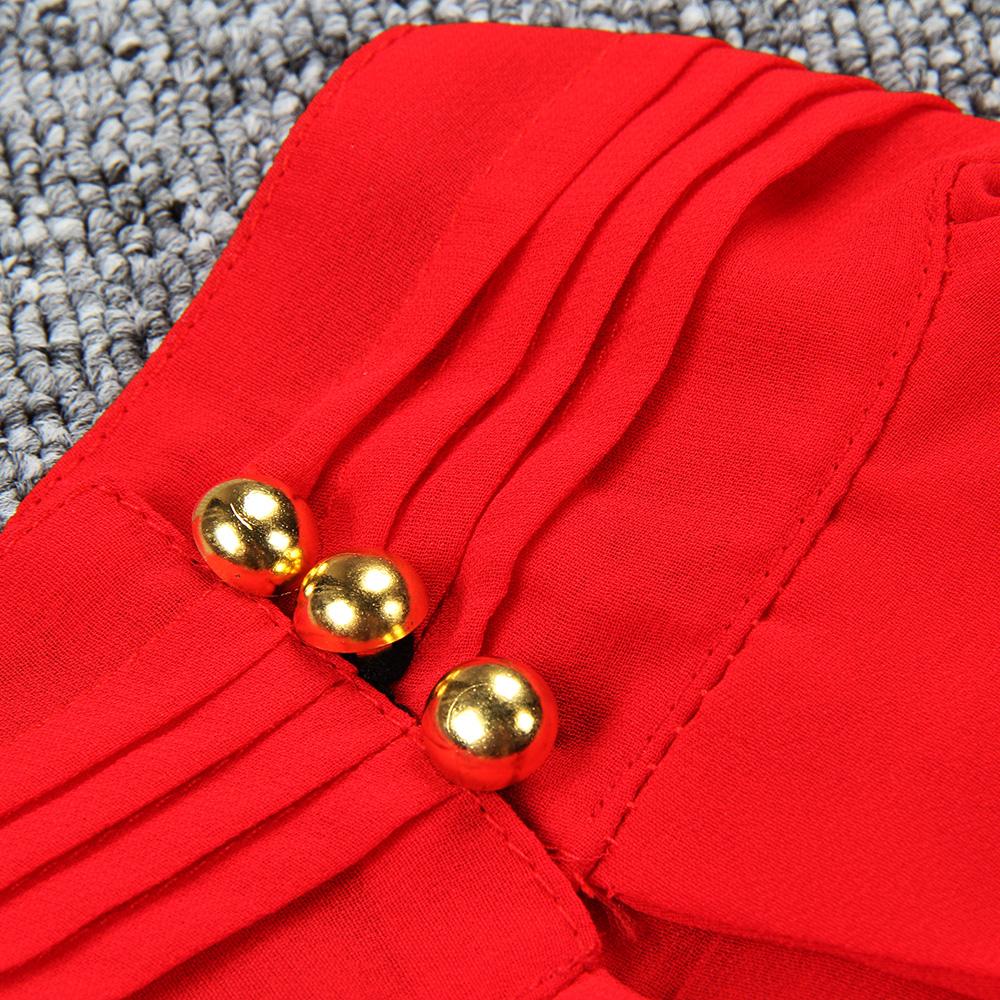 Women Chiffon Back Hollow Blouses Fashion 2017 New Beach Summer Sleeveless Tops Elegant Pleated Blusas Femininos Plus Size M0173 17