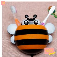 Strong suction cup toothbrush rack creative bee toothbrush lovely candy-colour cartoon animals toothbrush holder