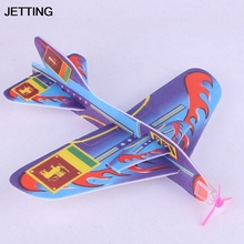 JETTING 18.5*19 cm Random Color Stretch Flying Glider Planes Aeroplane Children Kids Toys Game(China)