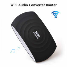 WiFi Speaker Wireless Router AUX HiFi DLNA H-Res 300Mbps 3.5mm Qplay Audio Converter For Home Android Ios Smartphone Tablet