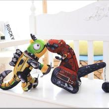 Cute new board trumpet excavator and machine Dinosaur Plush Toy 30cm