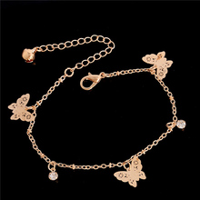 SHUANGR New Accessories butterfly anklet bracelet women fashion beach foot chain girl love ankle bracelet on the leg jewelry
