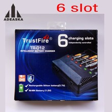 Trustfire TR-012 Universal Digicharger Intelligent Battery Charger With 6 Slot for 18650/18350/16340/14500/AA/AAA(China)