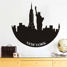 DCTOP New York Statue Of Liberty Wall Decals Adhesive Stickers Home Decor Vinyl Removable Muursticker Bedroom Accessories