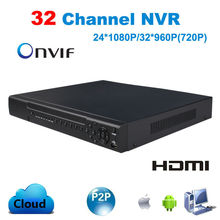 Buy CCTV 32CH NVR 24CH 1080P 32CH 960P 720P Onvif H.264 HDMI High Definition Full HD 32 channel Network Video Recorder support 2HDD for $189.36 in AliExpress store