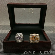 Christmas Gift 2000 2012 Baltimore Ravens Championship rings, Drop Shipping 2pcs/setb Gigh Quality Rings For Ravens Fans(China)
