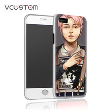 vcustom new New multi styles Bangtan Boys BTS white hard cases for IPHONE 5C phone case(China)