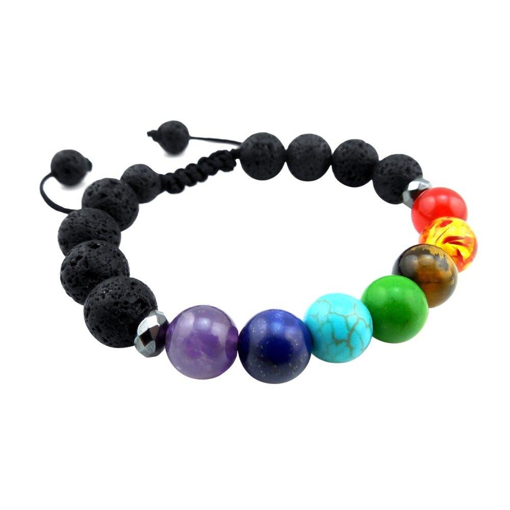 ZP-BS379-5 Lava Chakra Diffuser Bracelet