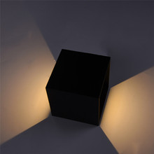 Waterproof IP65 Wall light AC85-265V Square Adjustable Wall Lamp Aluminum Wall Light Garden Light for Outdoor Indoor Home
