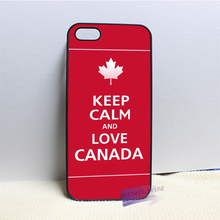 keep calm and love canada fashion cell phone case cover for iphone 4 4s 5 5s 5c SE 6 6s plus 7 plus #N6587