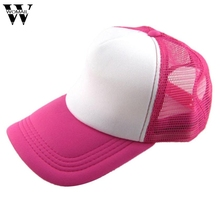 June 6 Fairy Store Unisex Casual Hat Solid Baseball Cap Trucker Mesh Blank Visor Hat Adjustable(China)
