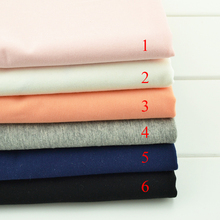 50*170cm  well stretchy Cotton Knitted  Fabric DIY Lycra cotton T-shirt Leggings clothing making cotton fabric by half meter