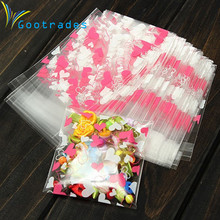 100Pcs Self Adhesive Cookie Candy Package Gifts Bag Party Birthday Wrapping Bag Free Shipping #187(China)