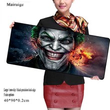 Mairuige Store Anime Large Size 90cm*40cm Grande Funny Joker Mouse Pads Speed Computer Gaming Mouse Pad Locking Edge Table Mat(China)